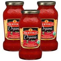 (3 Pack) Bertolli Organic Traditional Tomato & Basil Pasta Sauce 24 oz.