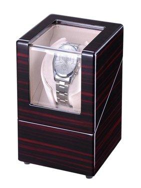 Yescom Single Motor Automatic Double/Single Watch Winder Display Box Storage Case Organizer Polish Wooden for Wristwatch