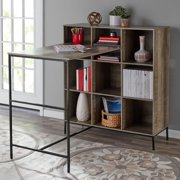Mainstays 9-Cube Standing Storage Desk, Rustic Brown