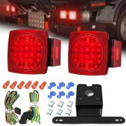 ambother 2pcs led boat trailer lights kit submersible tail light running  stop turn signal brake marker