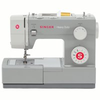 Singer Heavy Duty 4411 Sewing Machine with 11 Built-in Stitches, Strong Motor & 4 Step Buttonhole, Perfect for Sewing all Types of Fabrics with Ease, Even Leather