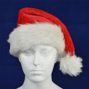 Deluxe Father Christmas Santa Hat Xmas Fancy Dress Accessories Stocking  Fillers 6ec1dac6a53b