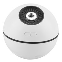 HERCHR 300ml/10oz Humidifier Ball 4-in-1 Cool Mist Warm Air USB Rechargeable Steam Humidifier LED Night Light Mini Fan Mobile Power Multifunctional Home Office Diffuser for Baby Kid Bedroom, White