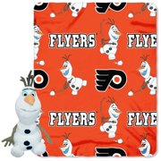 Official NHL and Disney Cobrand Philadelphia Flyers Olaf Hugger Character  Shaped Pillow and 40