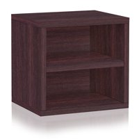 Way Basics Eco Stackable Connect Storage Cube with Shelf, Multiple Colors