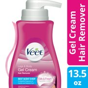 Veet Gel Hair Remover Cream for Legs and Body, Sensitive Formula - 13.5 fl oz (400 ml)