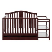 Graco Solano 4 in 1 Convertible Crib and Changer with Drawer Espresso
