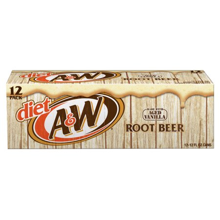 (2 Pack) Diet A&W Root Beer, 12 Fl Oz Cans, 12 (Christmas Age Bear)