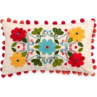 The Pioneer Woman Floral Embroidery 12x20 Decorative Pillow