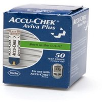 Accu-Chek Aviva Plus Blood Glucose Test Strips, 50 Ct
