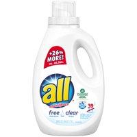 all® free clear Laundry Detergent 39 Loads 59 fl. oz. Bottle