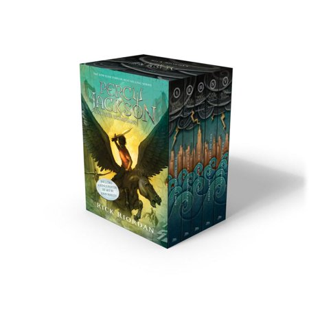5 Paperback Books - Percy Jackson and the Olympians 5 Book Paperback Boxed Set (new covers w/poster)
