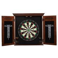 Barrington Chatham Bristle Dartboard and Cabinet Set, Brown