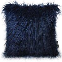 "Phantoscope Decorative New Luxury Series Merino Style Navy Blue Faux Fur Throw Pillow Case Cushion Cover 18"" x 18"" 45cm x 45cm"