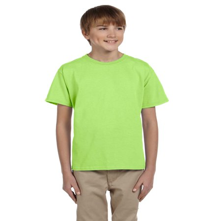 - Fruit Of The Loom Tee Shirt 3931B Youth 5.6 oz Heavy Cotton