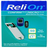 ReliOn Confirm Micro Blood Glucose Test Strips, 50 Ct