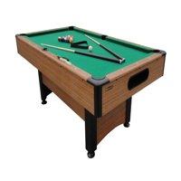 Mizerak Dynasty Space Saver 6.5' Billiard Table with Leg Levelers, Automatic Ball Return, and Classic Green Nylon Cloth