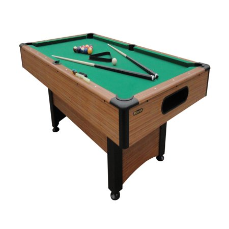 Unc Pool Table Light - Mizerak Dynasty Space Saver 6.5' Billiard Table with Leg Levelers, Automatic Ball Return, and Classic Green Nylon Cloth