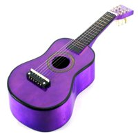 VT Classic Acoustic Beginners Children's Kid's 6 Stringed Toy Guitar Instrument w/ Guitar Pick, Extra Guitar String (Purple)