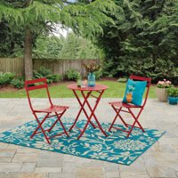 Mainstays Caldwell Point 3 Piece Outdoor Folding Bistro Set