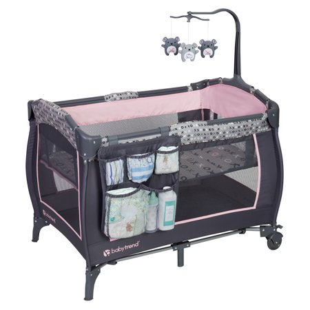 Baby Trend Trend E Nursery Center Playard Starlight Pink