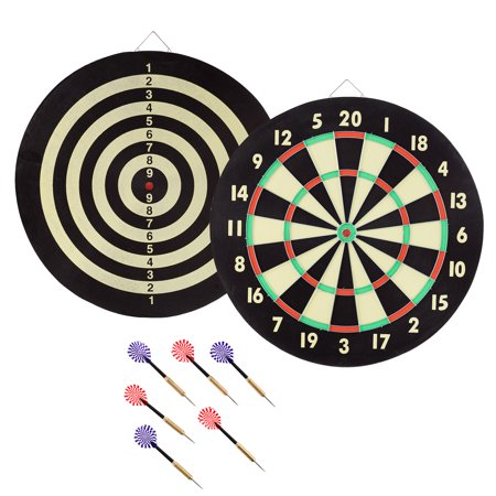 - TG Game Room Dart Set with 6 Darts and Board