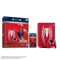 Sony Limited Edition Marvel's Spider-Man PS4 Pro 1TB Bundle, Red, 3003194