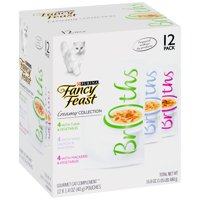 Purina Fancy Feast Creamy Broths Collection Cat Complement Wet Cat Food,1.4 Oz. Pouches (12 Pack)