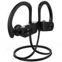 Mpow Bluetooth Headphones, IPX7 Waterproof In-ear Earbuds, Wireless Sports Earphones for Gym Running Cycling Workout (Red Outside & Black Inside)