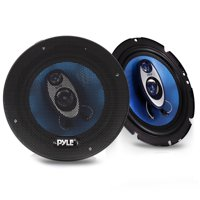 PYLE PL63BL - 6.5'' Three Way Sound Speaker System - Round Shaped Pro Full Range Triaxial Loud Audio 360 Watt Per Pair w/ 4 Ohm Impedance and 3/4'' Piezo Tweeter for Car Component Stereo