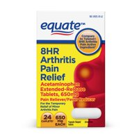 Equate 8HR Arthritis Pain Reliever, Acetaminophen 650mg, 24Ct