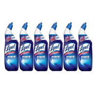 (2 pack) Lysol Power Toilet Bowl Cleaner, 72oz (6X24oz), 10X Cleaning Power