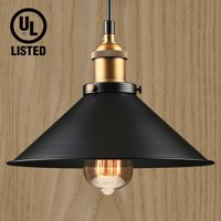 LEONLITE Industrial Hanging Pendant Light, LED Pendant Lighting for Dining Room, Bars, Warehouse, E26 Base