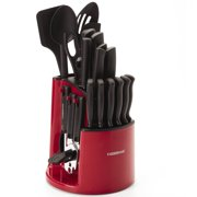 Farberware 30-Piece Spin N Store Knife and Kitchen Utensil Set