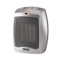 Lasko Electric Ceramic 1500W Heater, Silver/Black, 754200 - 2 pack
