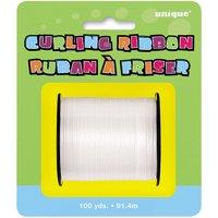 Curling Ribbon, White, 100 yd, 1ct