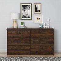 Mainstays 6 Drawer Dresser, Columbia Walnut