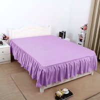 Bed Skirt Solid Polyester Bed Dust Ruffle 3 Sided Coverage Queen/King/Twin/Full