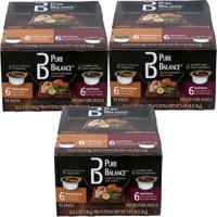 (3 Pack) Pure Balance Canned Chicken & Beef Wet Dog Food, 3.5 oz, 12 count