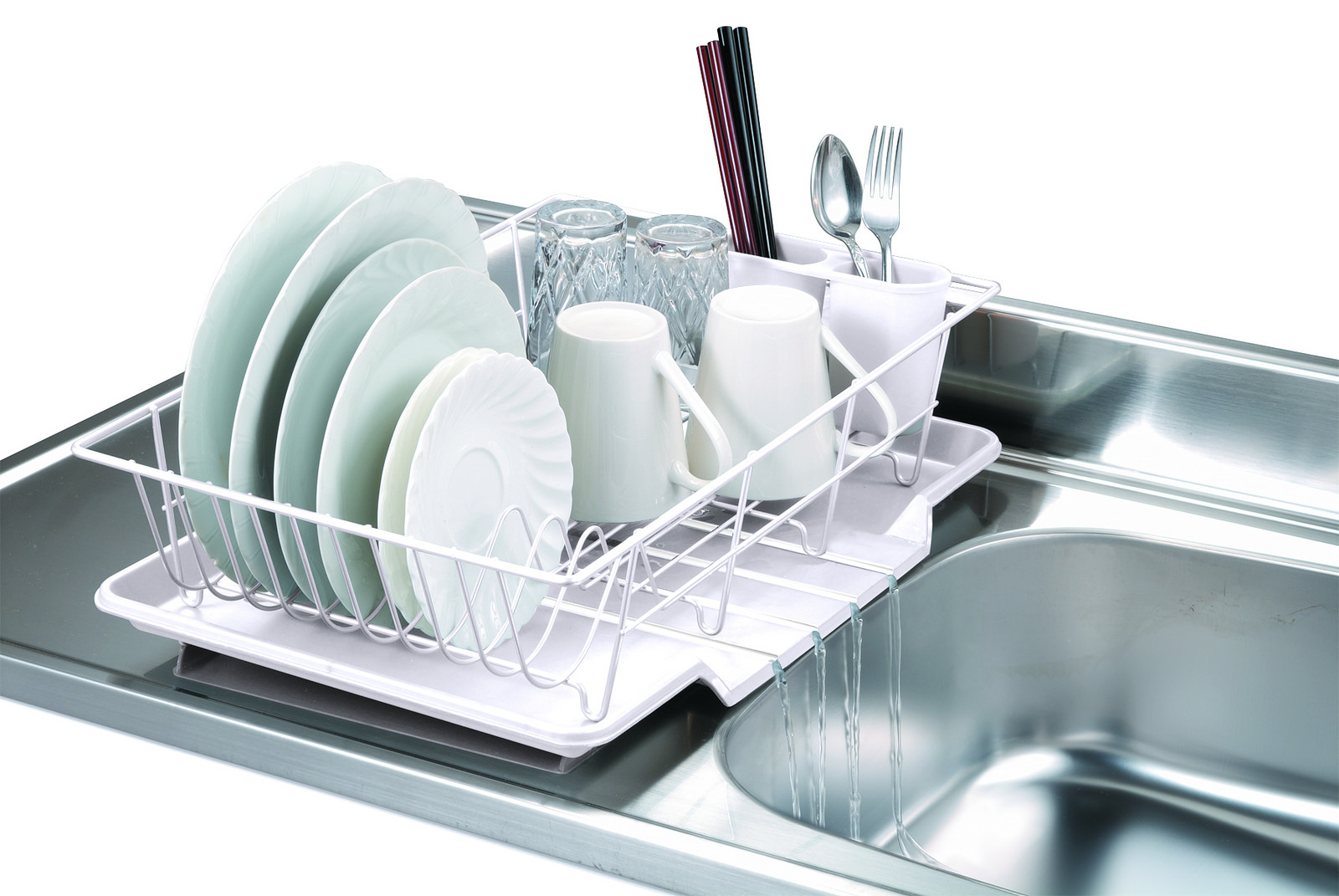 Home Basics 3-Piece Kitchen Sink Dish Drainer Set - Various Colors to Choose From  sc 1 st  Walmart & Dish Drainers