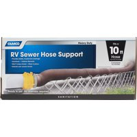 Camco Aluminum Sewer Hose Support, Supports Sewer Hoses Up to 10' (40351)