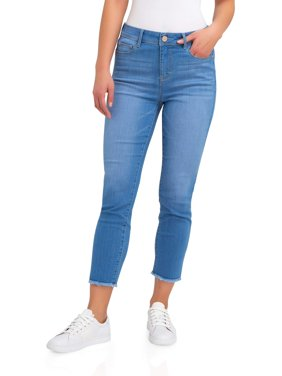 Women's High Rise Cropped Skinny Jeans