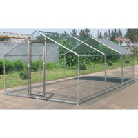 ChickenCoop Outlet Large Metal 20x10 ft Chicken Coop Backyard Hen House Cage Run Outdoor Cage