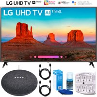 "LG 55UK6300 55"" (55UK6300PUE) UK6300 4K HDR Smart LED AI UHD TV w/ThinQ (2018) Google Home Mini Bundle"