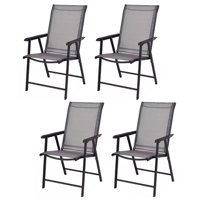 Costway Camping Deck Garden Folding Chair (Set of 4)