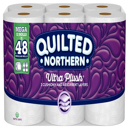 - Quilted Northern Ultra Plush Toilet Paper, 12 Mega Rolls