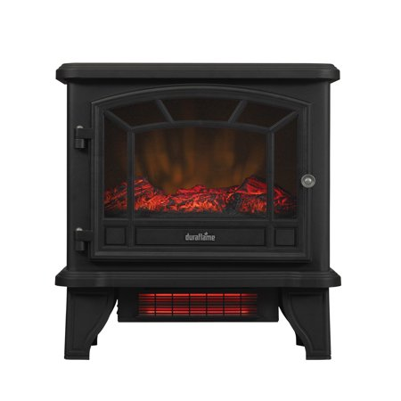 Fireplaces For Wood Burning Stoves - Duraflame Freestanding Infrared Quartz Fireplace Stove, Black