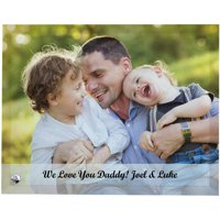 Personalized Family Photo Glass Message Frame, Available in Vertical or Horizontal