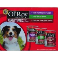 Ol' Roy Variety Pack Cuts in Gravy Wet Dog Food, 13.2 oz, 12 count