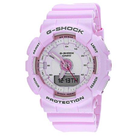 G-Shock S Series 46mm Resin Women's Sports Watch (Pink) GMAS130-4A ()